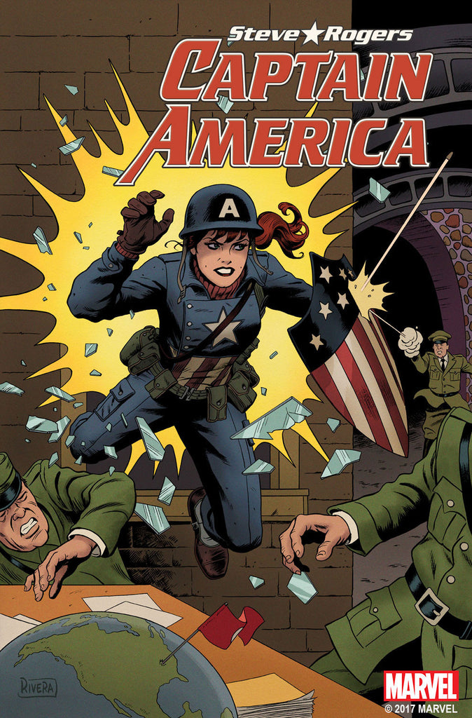 CAPTAIN AMERICA STEVE ROGERS #18 RIVERA MARY JANE VAR SE COVER
