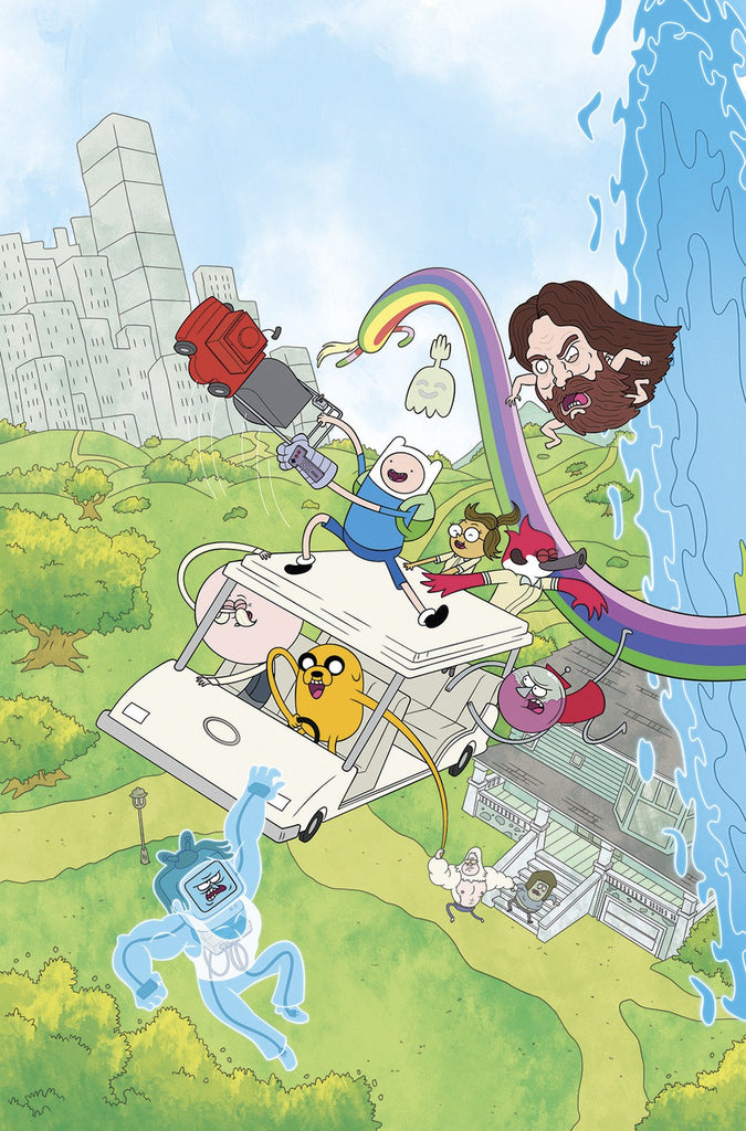 ADVENTURE TIME REGULAR SHOW #1 MAIN & MIX COVER