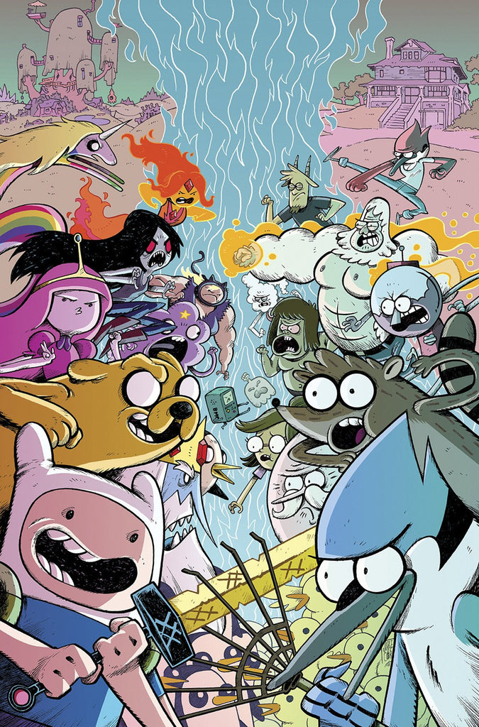 ADVENTURE TIME REGULAR SHOW #1 SUBSCRIPTION CORONA VAR COVER
