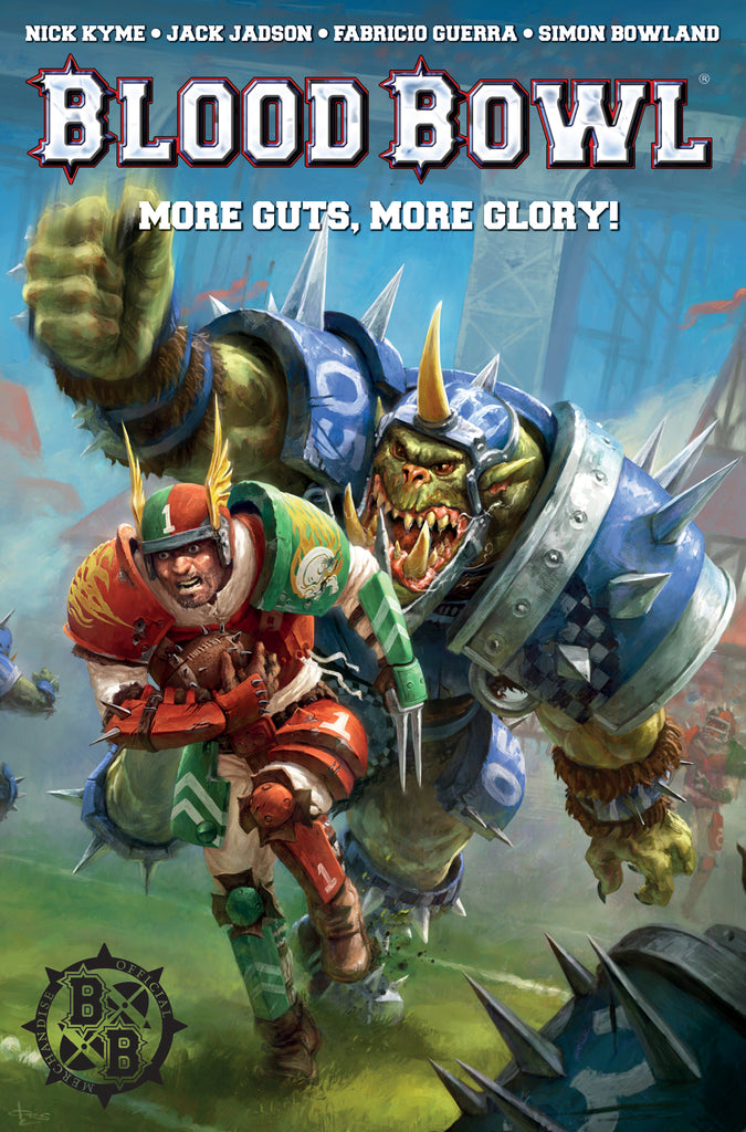 BLOOD BOWL MORE GUTS MORE GLORY TP COVER