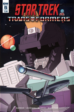 STAR TREK VS TRANSFORMERS #5 (OF 5) CVR B BURCHAM COVER