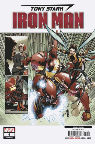 TONY STARK IRON MAN #4 2ND PTG SCHITI VAR COVER