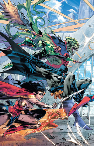 JUSTICE LEAGUE #20 LEFT VAR ED COVER