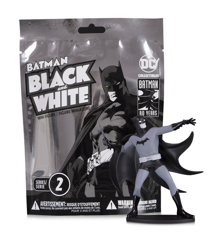 BATMAN BLACK & WHITE BLIND BAG MINI FIGS W2