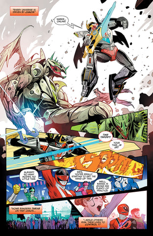 MIGHTY MORPHIN POWER RANGERS #47 FOC MORA VAR
