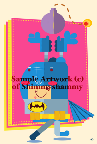 Batman Art Print by Shimmyshammy
