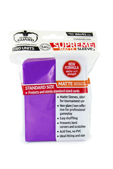 Ultimate Guard Supreme Sleeves Standard Size Matte Purple (80)