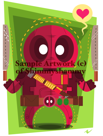 Deadpool Art Print by Shimmyshammy
