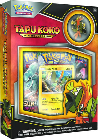 Pokemon Tapu Koko Pin Collection