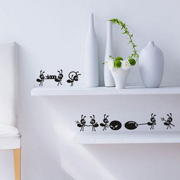 Cute Ants PVC Wall Stickers