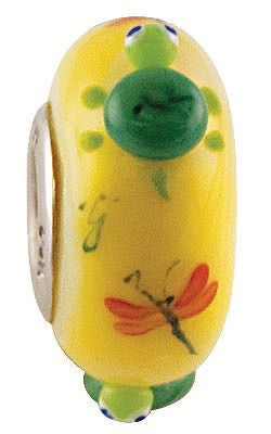 """Tilly the Turtle"" Whimsy Glass Bead - Fenton Glass Jewelry"