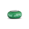 Marshall Collegiate Green Glass Bead - Fenton Glass Jewelry - 2