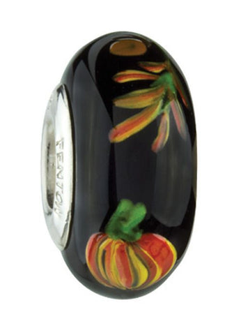 """All Hallow's Eve"" Hand Decorated Glass Bead"