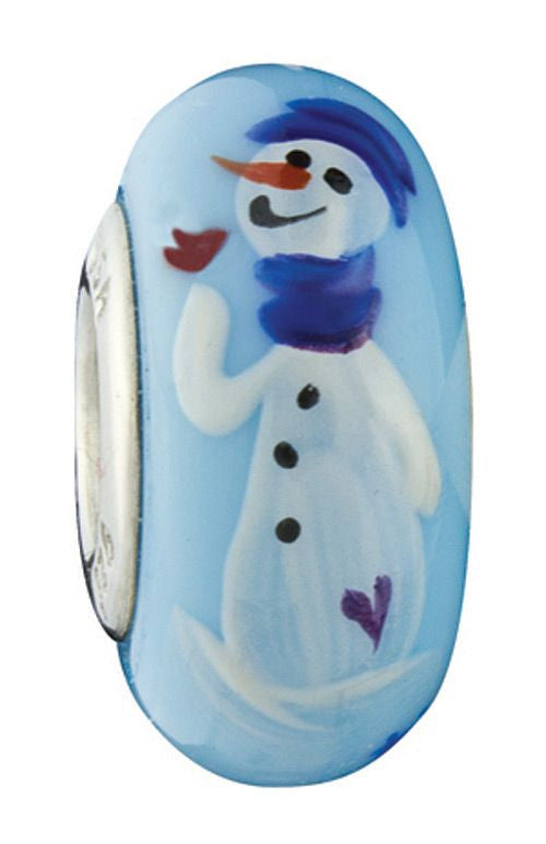 """Sparkles"" Hand Decorated Glass Bead - Fenton Glass Jewelry"
