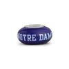 Notre Dame Collegiate Blue Glass Bead - Fenton Glass Jewelry - 1