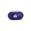 Notre Dame Collegiate Blue Glass Bead - Fenton Glass Jewelry - 2