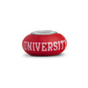 The Ohio State Collegiate Red Glass Bead - Fenton Glass Jewelry - 3