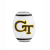 Georgia Tech Collegiate Milk Glass Cornerstone Bead - Fenton Glass Jewelry - 2