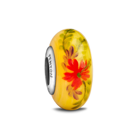 """Luau"" Hand Decorated Glass Bead"