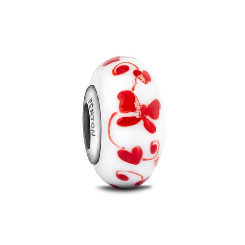 """Love Comes Softly"" Hand Decorated Glass Bead"