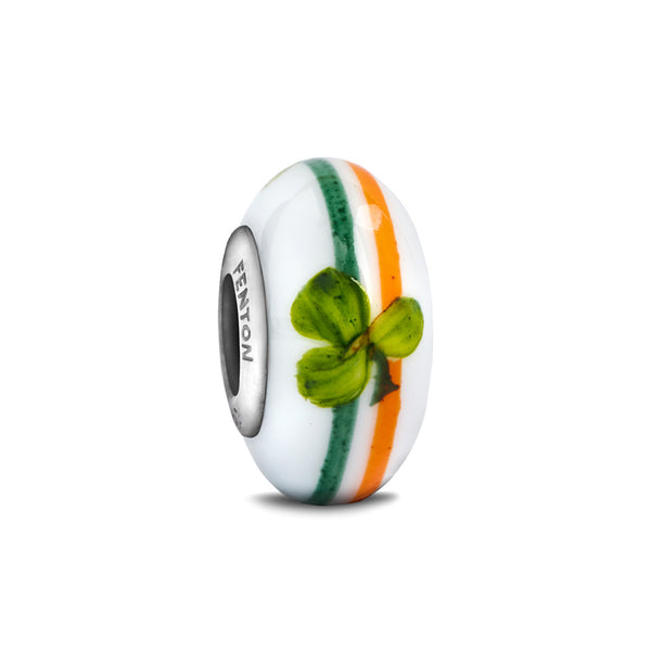 """The Irish"" Hand Decorated Glass Bead - Fenton Glass Jewelry"