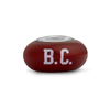 Boston Collegiate Maroon Glass Bead - Fenton Glass Jewelry - 1