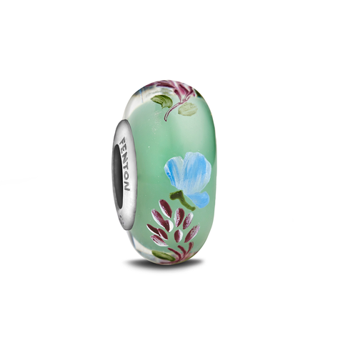 """Springtime Perfume"" Hand Decorated Glass Bead"