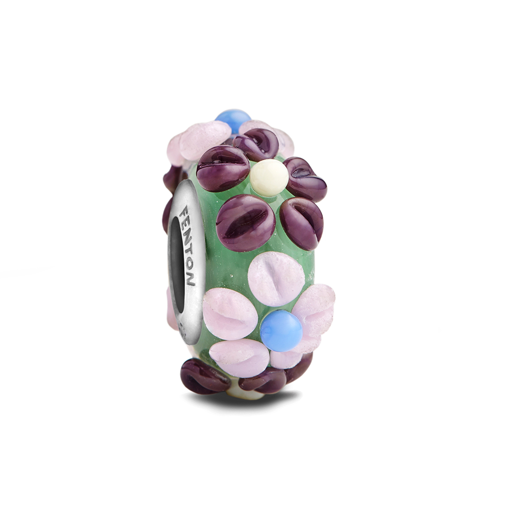 """Purple Marguerite Daisy"" Glass Crafted Bead - Fenton Glass Jewelry"