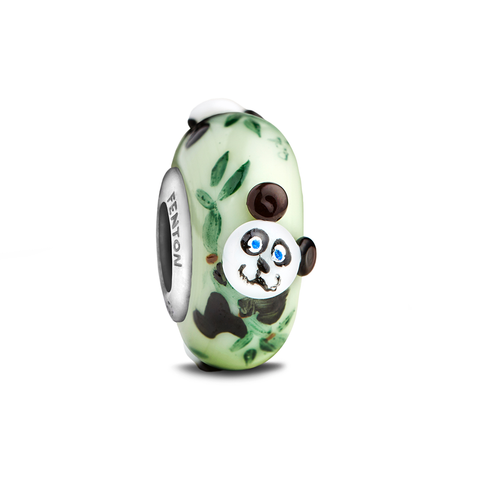 """Baby Panda"" Whimsy Glass Bead"