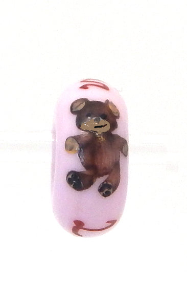 Elvis Teddy Bear Hand Decorated Glass Bead