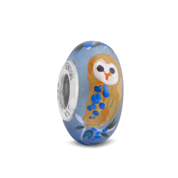 """Tawny Owl"" Hand Decorated Glass Bead"
