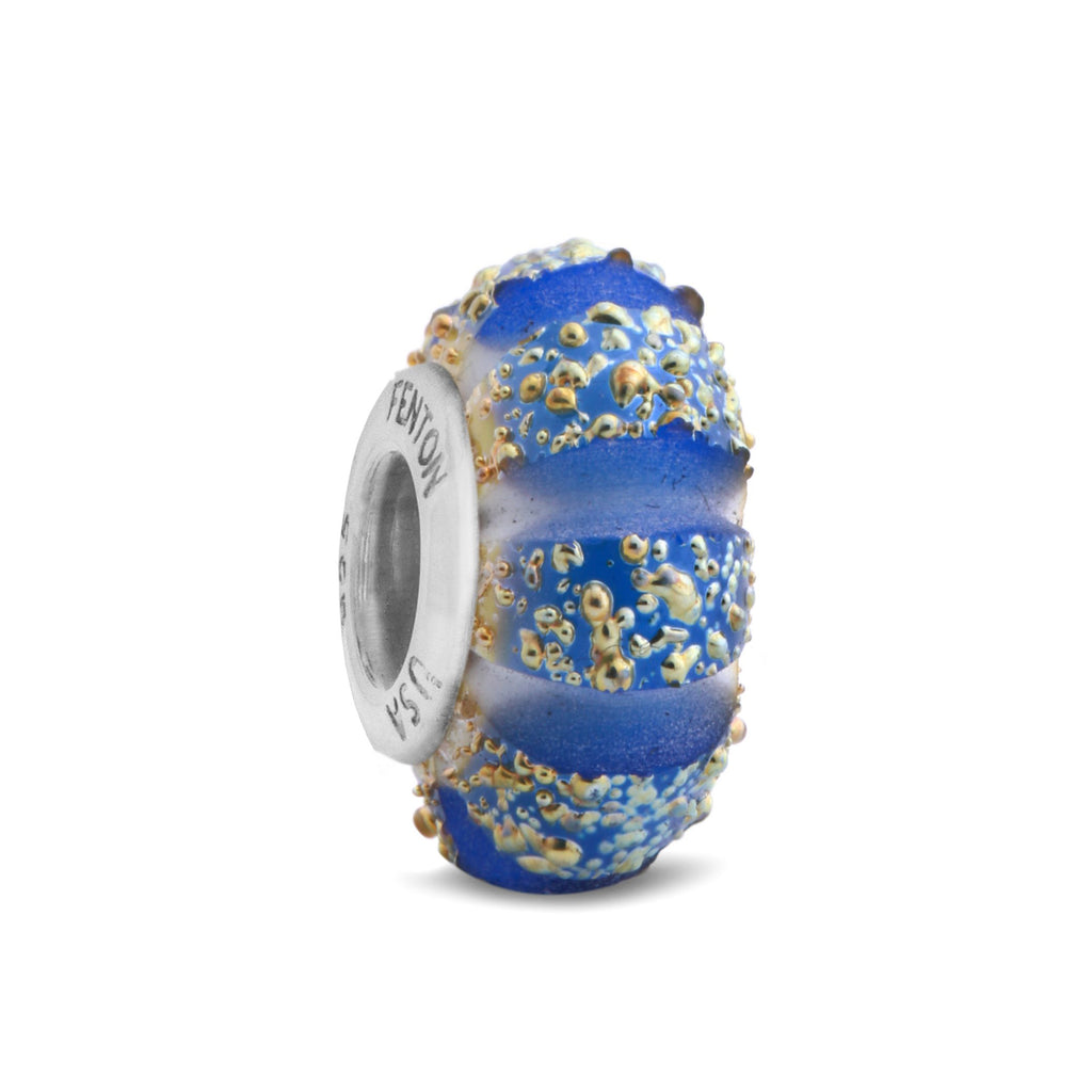 """Golden Cobalt"" Glass Crafted Bead"