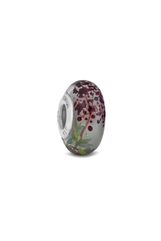 """Grapevine"" Hand Decorated Glass Bead"