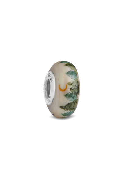 """Forest Love"" Hand Decorated Glass Bead"