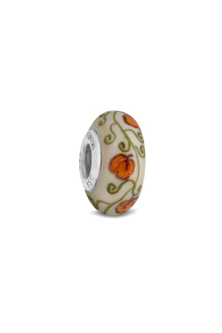 """Pumpkin Spice"" Hand Decorated Glass Bead"