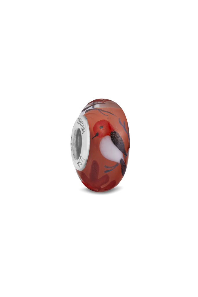 """Nightingale"" Hand Decorated Glass Bead"
