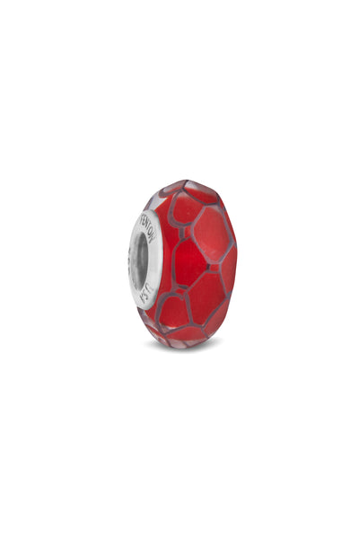 """Ruby Love"" Glass Crafted and Hand Painted Bead"