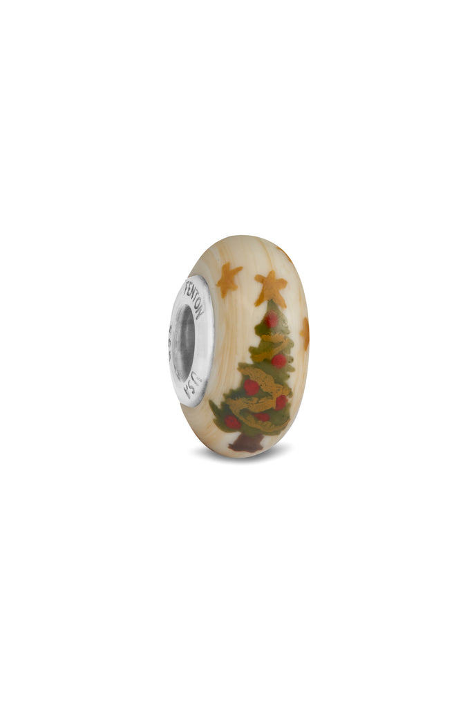 """Christmas Tree"" Hand Painted Bead"