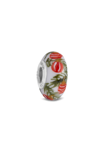 """Peppermint"" Hand Painted Bead"