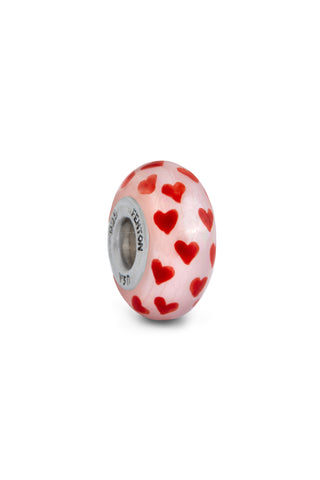 """Full Of Love"" Hand Painted Bead"