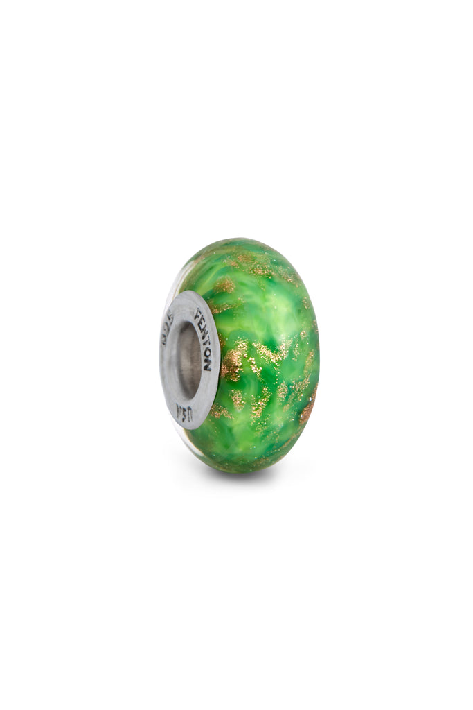 """Dewy Morning"" St. Patrick's Day Murano Glass Bead"