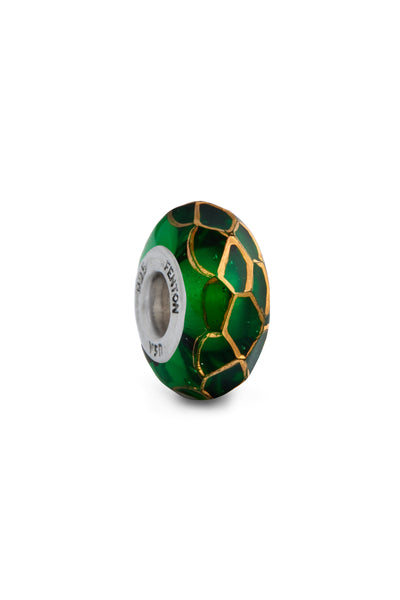 """Pot of Gold"" Hand Painted Bead"