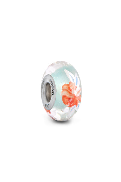 """Butterfly Garden"" Hand Painted Bead"