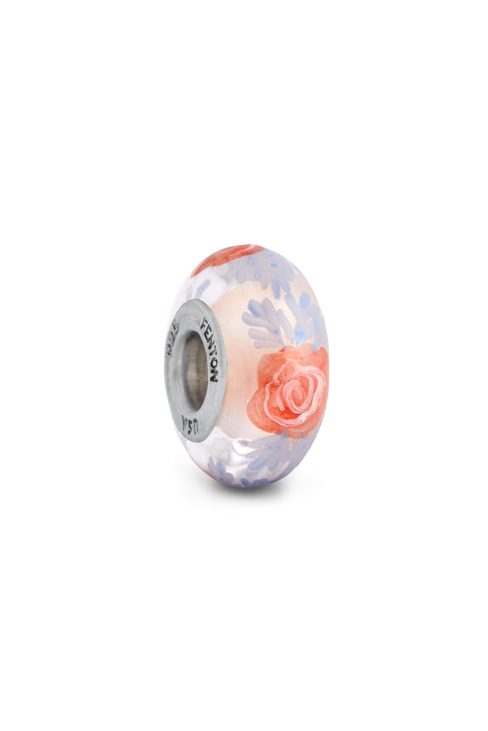 """Enchanted Rose"" Hand Painted Bead"