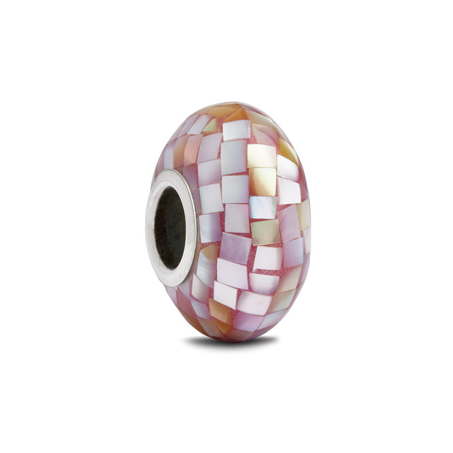 Purple Mother of Pearl Spacer Bead - Fenton Glass Jewelry