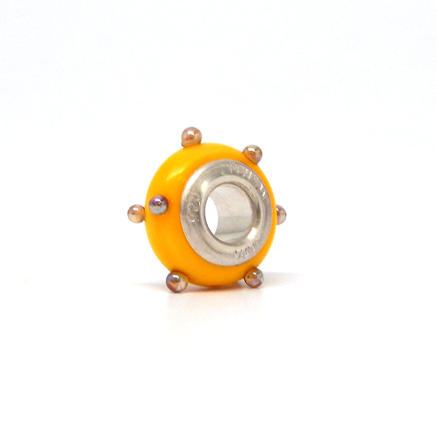 Bold Yellow 3-D Spacer Bead