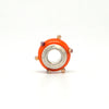 Deep Orange 3-D Spacer Bead