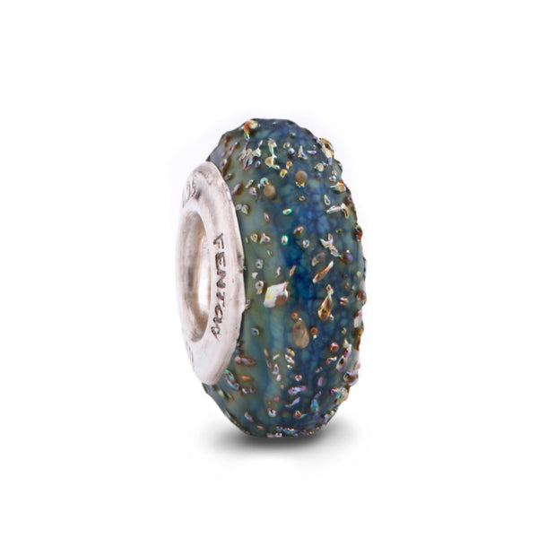 """Iridescent Lapis"" Spacer Bead"