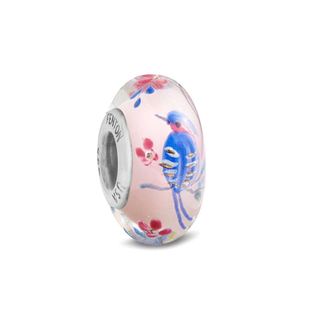 """A Cherished Moment"" Hand Decorated Glass Bead"
