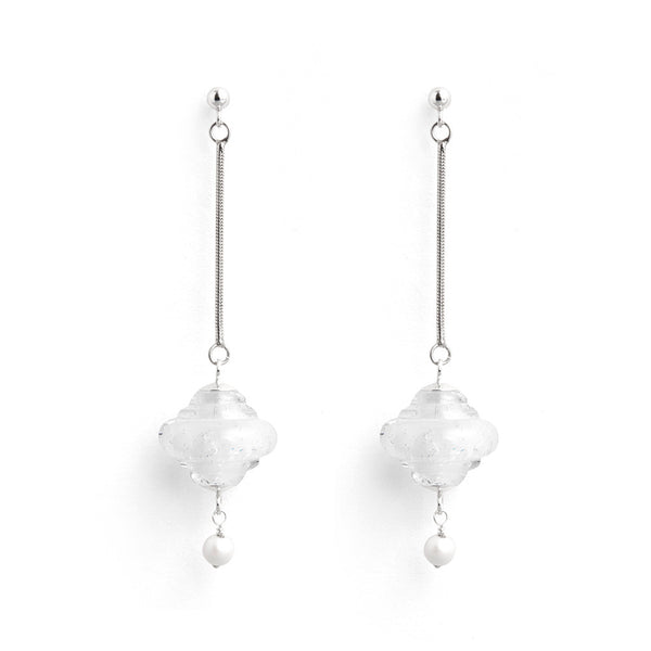 """Argent"" Baroque Earrings"